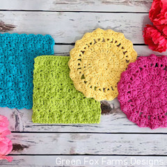 A thumbnail photo of the Flora Wash Cloths free crochet pattern