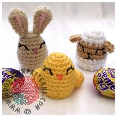 Easter Animal Creme Egg Covers Crochet Pattern