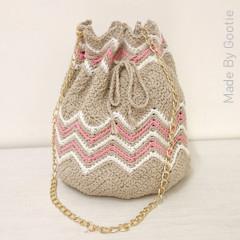 Thumbnail image of the Chevron Bucket Bag free crochet pattern