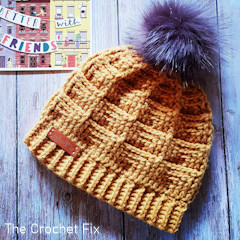 A thumbnail photo of the Goodwood Groove Beanie free Tunisian crochet pattern
