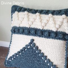 A thumbnail photo of the Pretty Bobble Pillow free crochet pattern