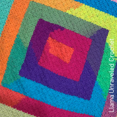 A thumbnail photo of the Spiral C2C Blanket free crochet pattern