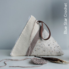 Thumbnail image of the Wedge Project Bag free crochet pattern