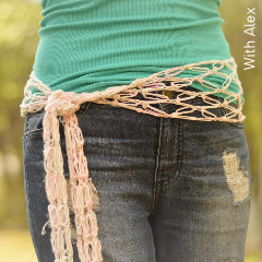 Thumbnail image of the Coachella Scarf free crochet pattern