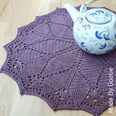 Thumbnail image of the Diamonds Doily free crochet pattern