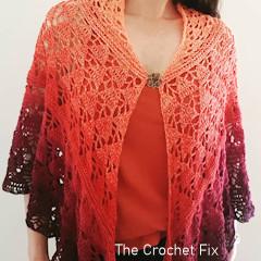Thumbnail image of the Sunday Strolls Shawl free crochet pattern