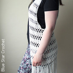 Thumbnail image of the Bohemian Vest free crochet pattern
