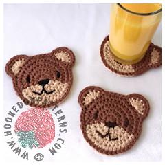 Free Teddy Bear Coasters Crochet Pattern