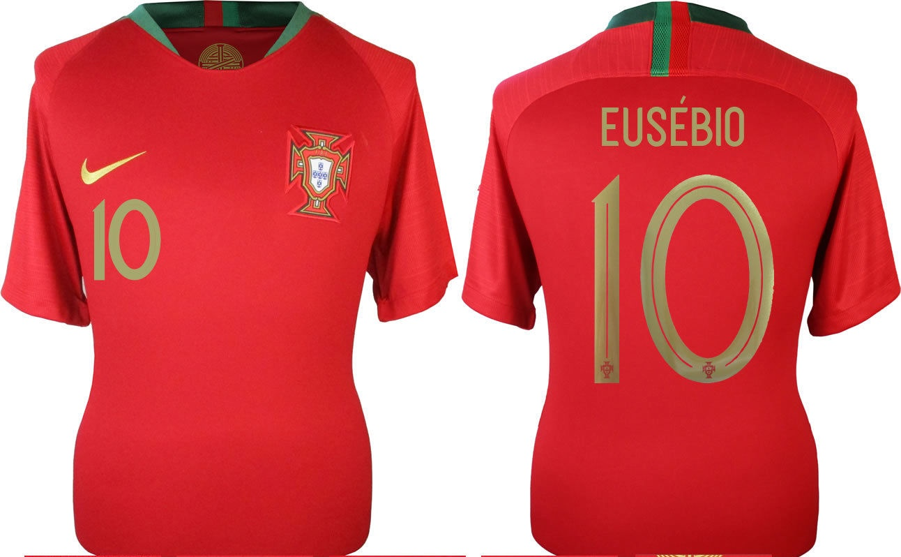 Nike Portugal 2018 19 Home Eusebio  10 Jersey – Hooked on Soccer f65084c84