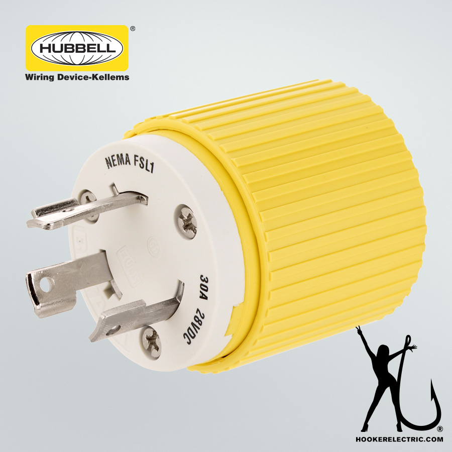 medium resolution of hubbell 30a male plug