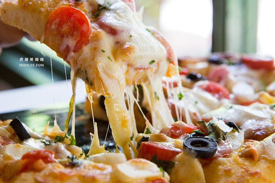 吃好好吃 義大利小餐館 老屋餐廳 小長方比薩 小辣椒蒜味橄欖油比薩PIZZ NTD280