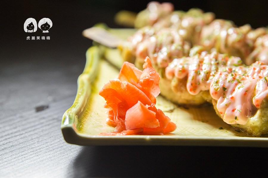 柶築居酒屋 高雄 左營 居酒屋 日本料理 明太子雞肉串 NTD120 紅薑可以續加