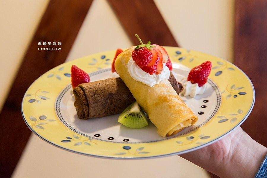 亞力的家 法式薄餅小館 草莓乳酪巧克情人捲 NTD209