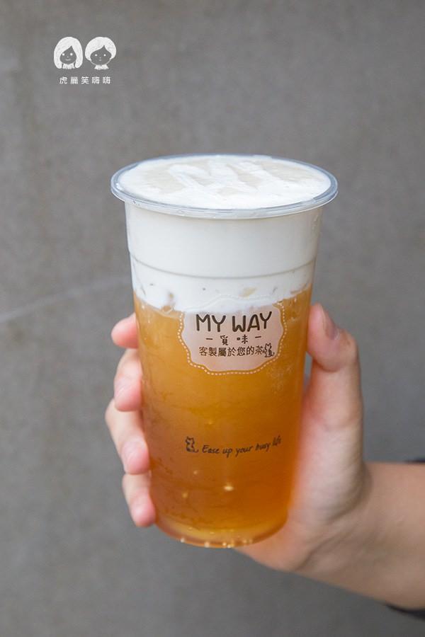 覓味 MY WAY 新興區 飲料店 覓味奶蓋綠 中NTD30 / 大NTD45