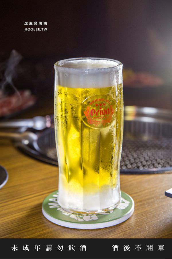 萬兩炭火燒肉 高雄燒烤 ORION生啤酒 NT$150/杯