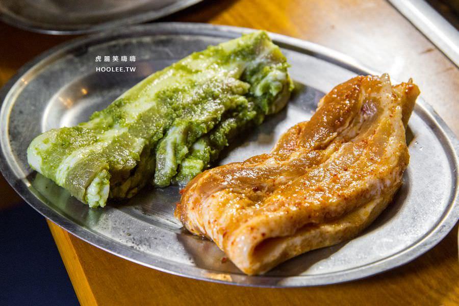 菜豚屋 高雄 日式韓式燒肉 蔥醬三層肉/秘傳醬三層肉