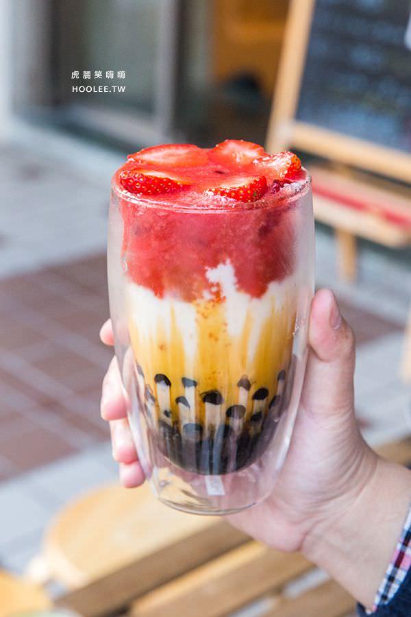 冰屋 草莓惡魔珍珠鮮奶 NT$80