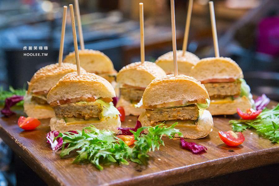 捷絲旅 蔬食百匯 Double Veggie 高雄素食吃到飽 黑椒菇汁小漢堡