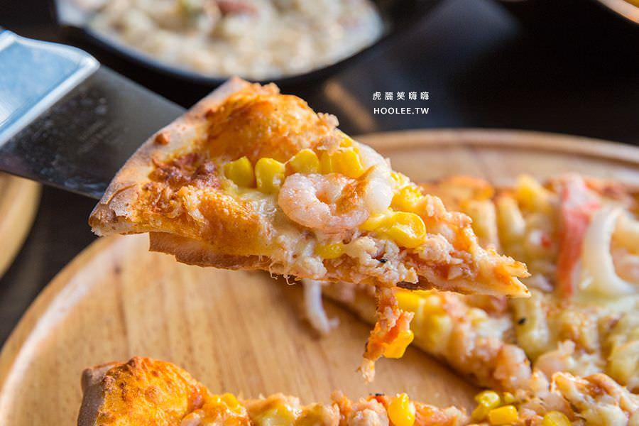 高雄吃到飽 Double Cheese 手工窯烤pizza 海陸雙拼