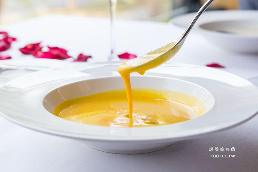 安多尼歐法式餐廳 高雄約會餐廳 香橙紅蘿蔔濃湯