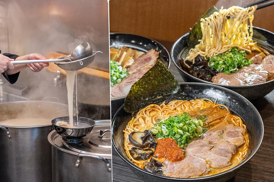 臥龍拉麵(高雄)九州系豚骨拉麵推薦!重口味必吃超濃厚蒜頭拉麵,無辣不歡叉燒地獄拉麵