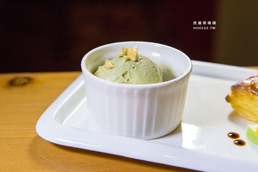 初味1.0 晚餐 香蕉千層派 + 抹茶冰淇淋