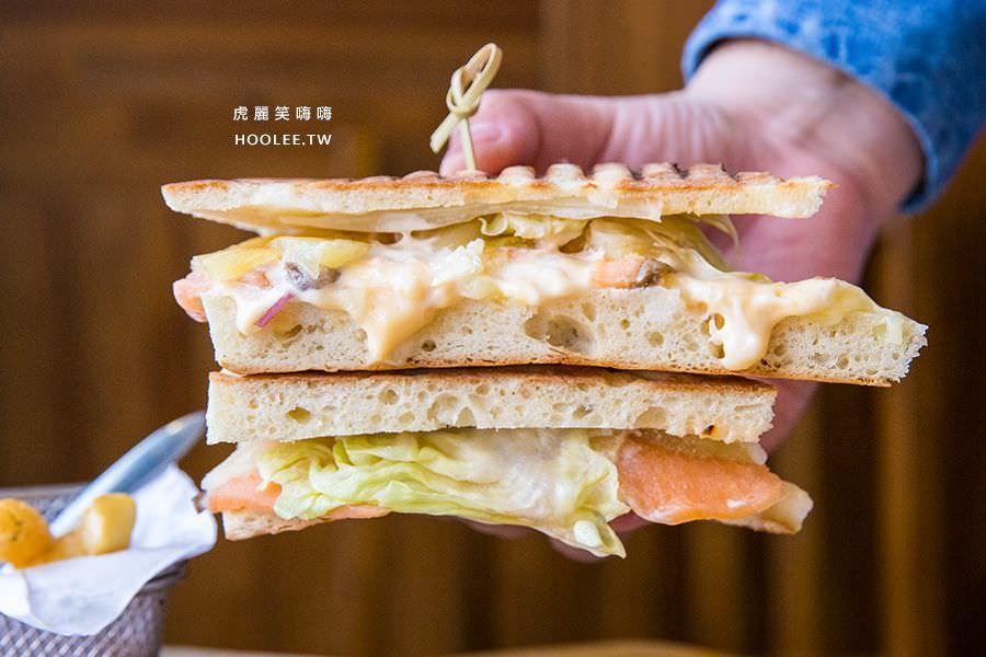 Hao飯寓所 岡山美食 早午餐推薦 帕里尼 熱帶水果燻鮭魚 NT$158