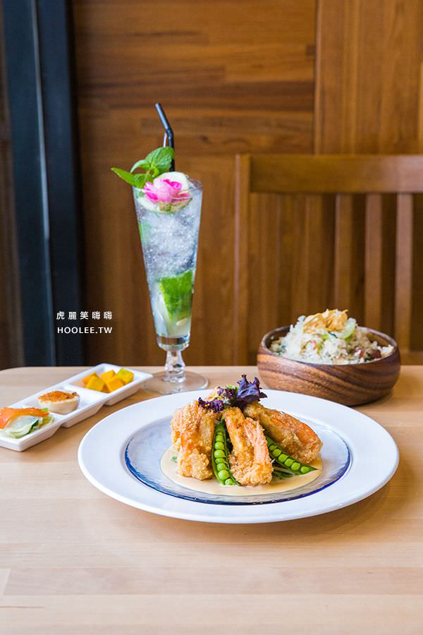 Hao飯寓所 岡山美食 早午餐推薦 芝麻炸蝦配菜飯 NT$308