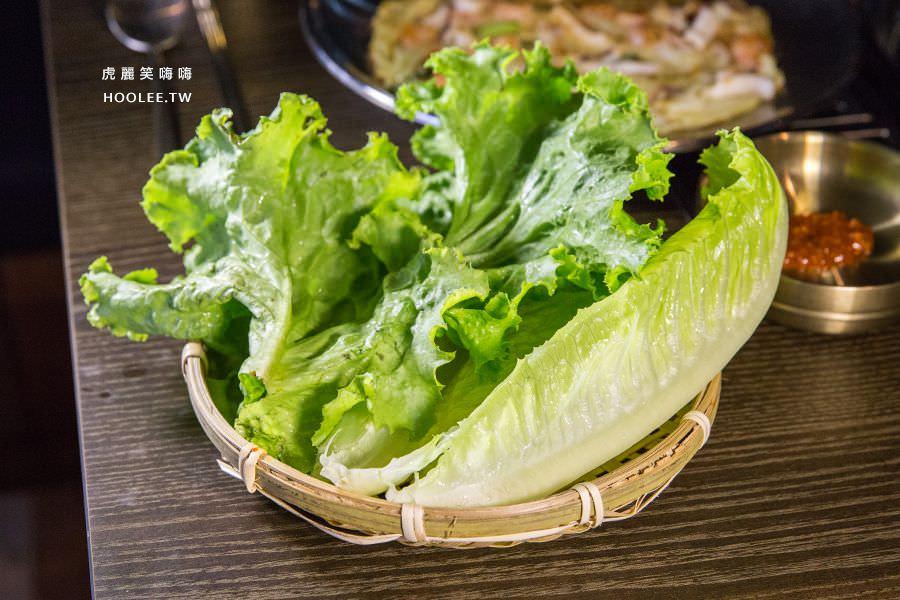 水刺床韓式烤肉餐廳 高雄韓式烤肉 生菜無限量供應
