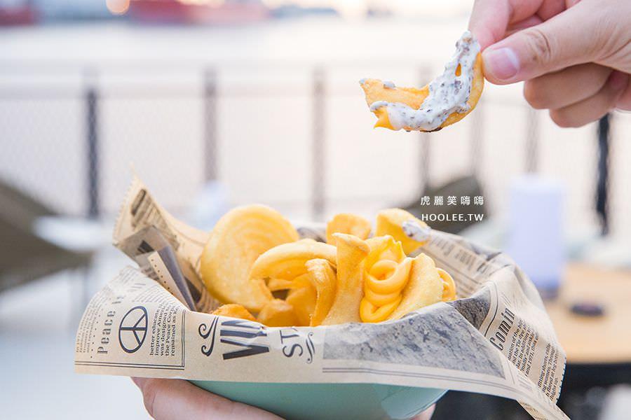 鯊加碼頭餐廳 Sauga 高雄約會 海景 夕陽 餐廳 松露起士薯條 NT$250