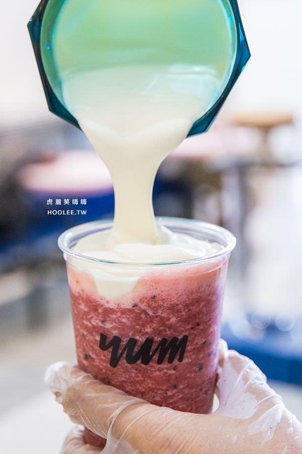 泱茶 高雄飲料推薦 泱泱莓果派對 M杯 NT$75 + 雲芝奶蓋 NT$20