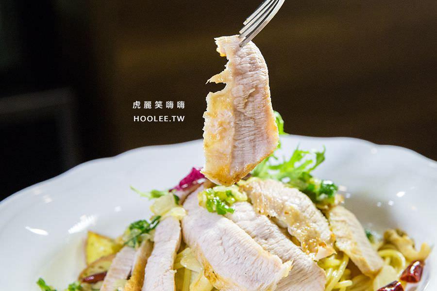 天使餐坊異國料理 高雄 蒜香辣味松阪豬義大利麵 NT$250