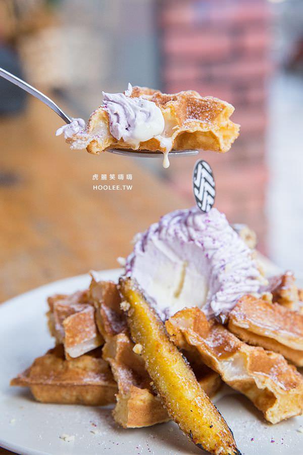 黑浮咖啡 高雄咖啡廳 台農57黃金紫薯慕絲鬆餅 NT$220