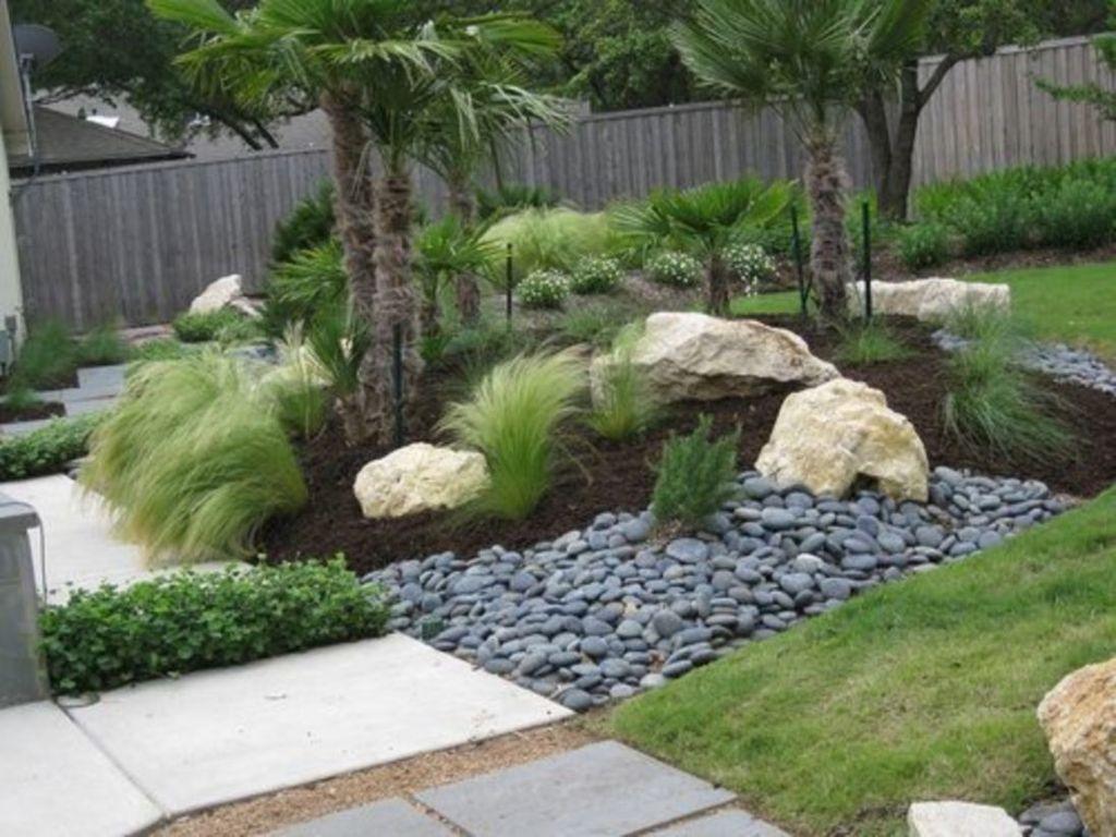 30 Beautiful Modern Rock Garden Ideas For Backyard ... on Rock Backyard  id=49564