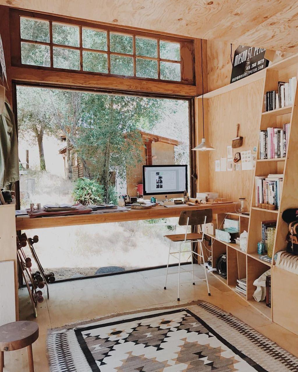Amazing Contemporary Home Office Design Ideas 38