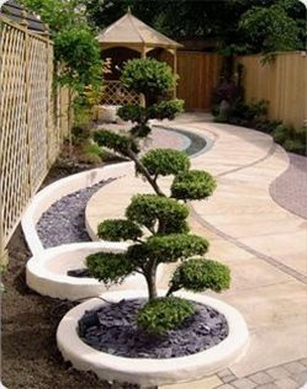 Awesome Backyard Landscaping Ideas With Elegant Accent 13