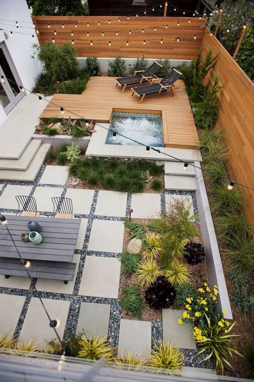 Awesome Backyard Landscaping Ideas With Elegant Accent 31