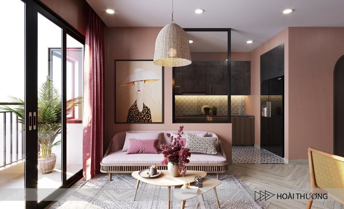 Beautiful Pink Living Room Decor Ideas 01