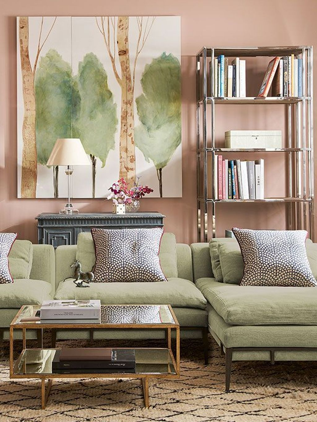 Beautiful Pink Living Room Decor Ideas 07