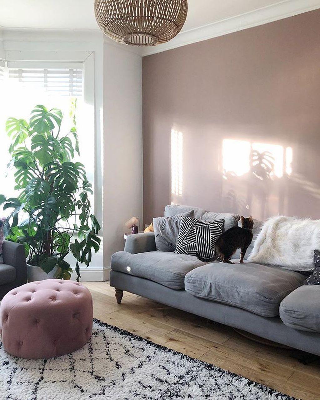 Beautiful Pink Living Room Decor Ideas 17