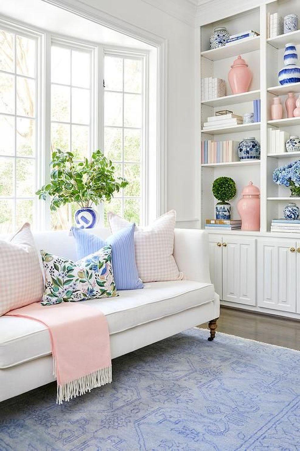 Beautiful Pink Living Room Decor Ideas 26