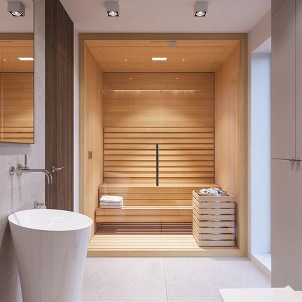 Beautiful Sauna Design Ideas For Your Bathroom 04