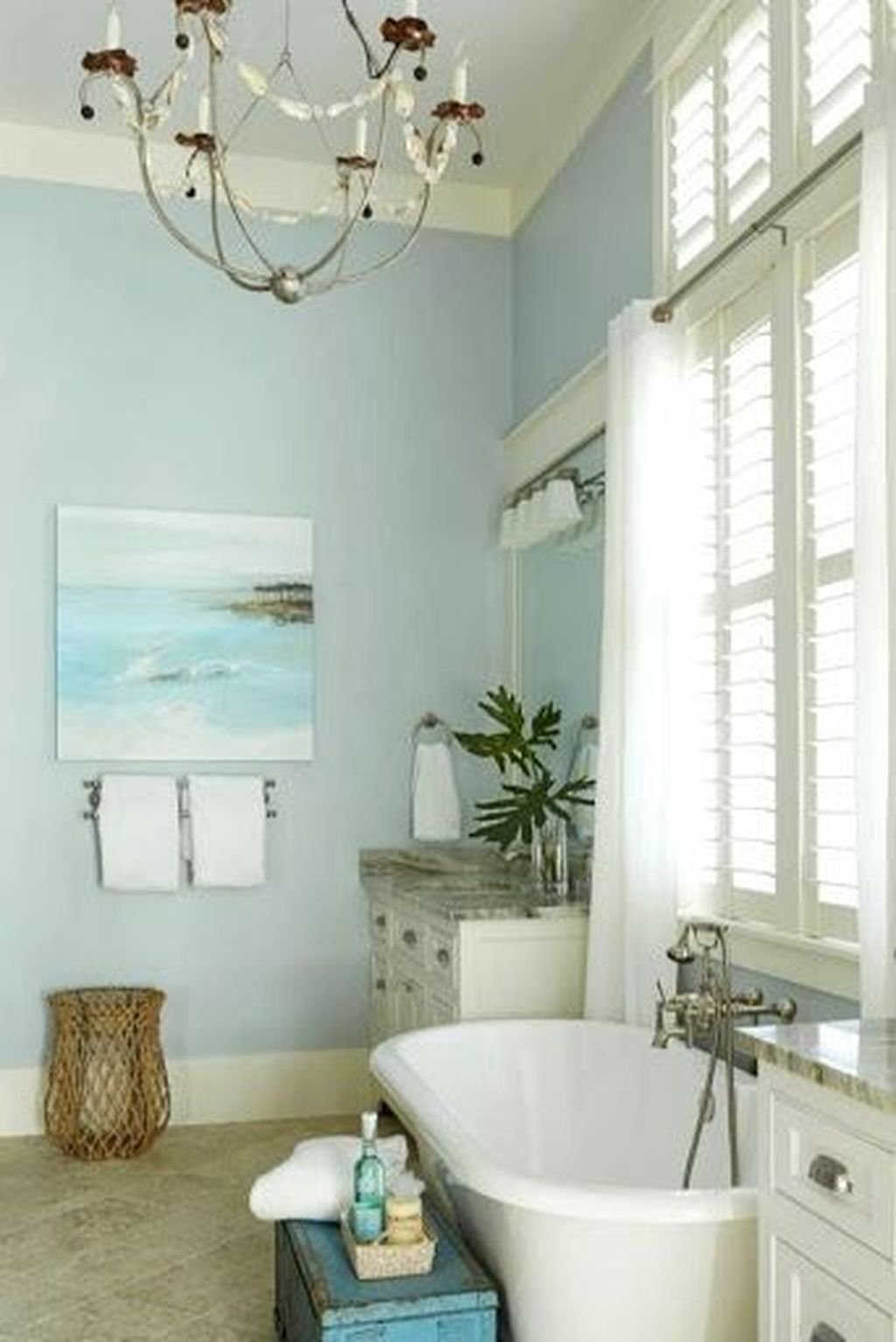Fabulous Bathroom Decor Ideas With Coastal Style 06