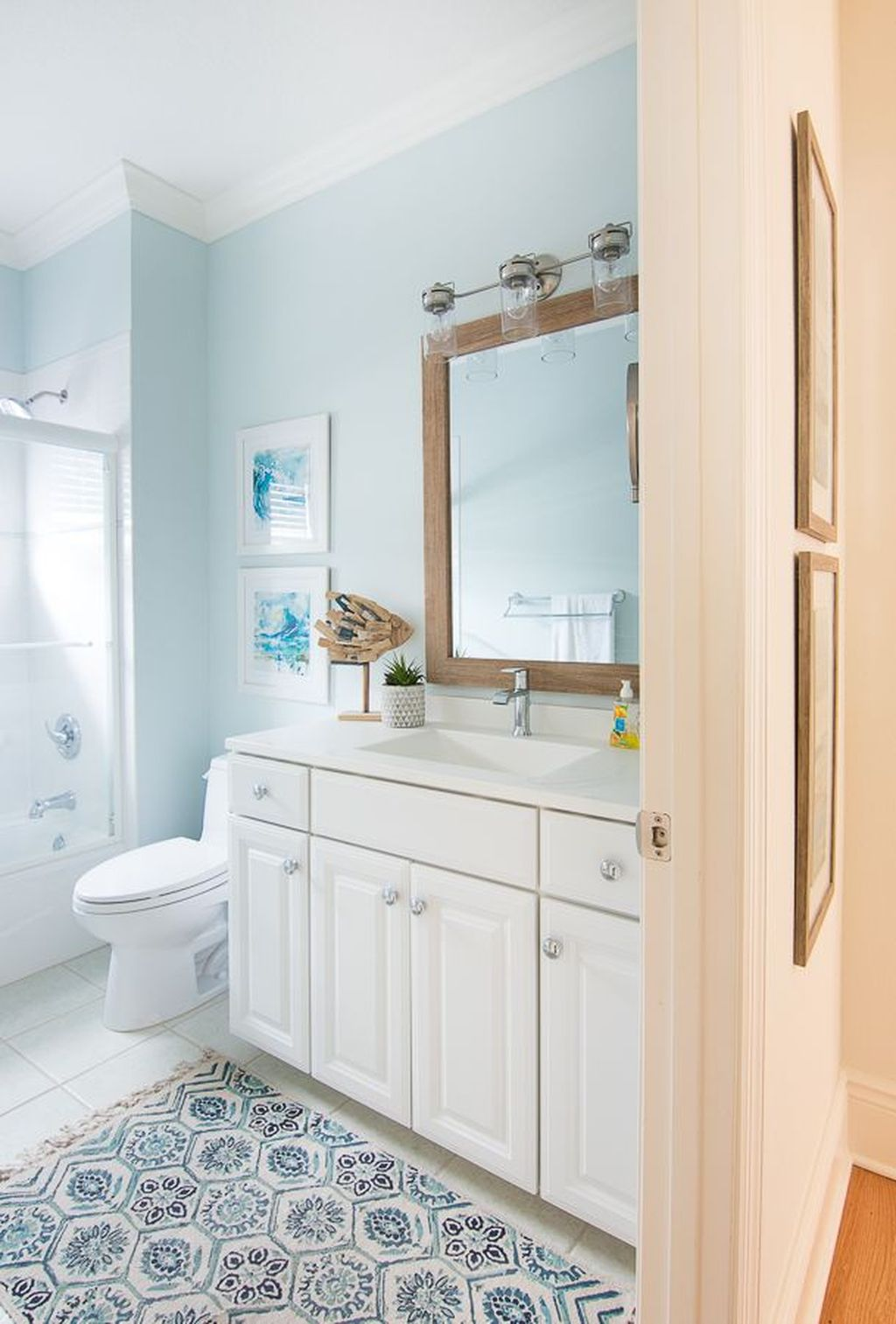 Fabulous Bathroom Decor Ideas With Coastal Style 18