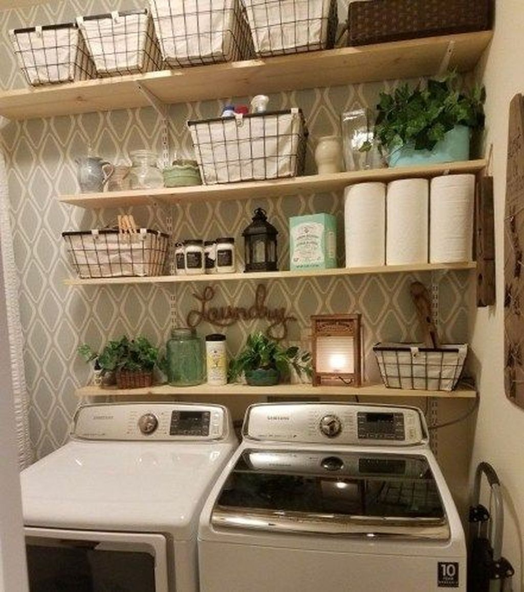 Inspiring Small Laundry Room Design And Decor Ideas 24