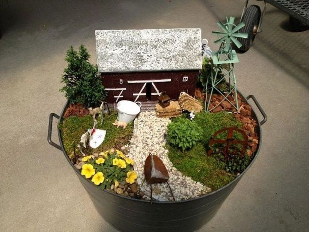 Lovely Beautiful Fairy Garden Design Ideas 23