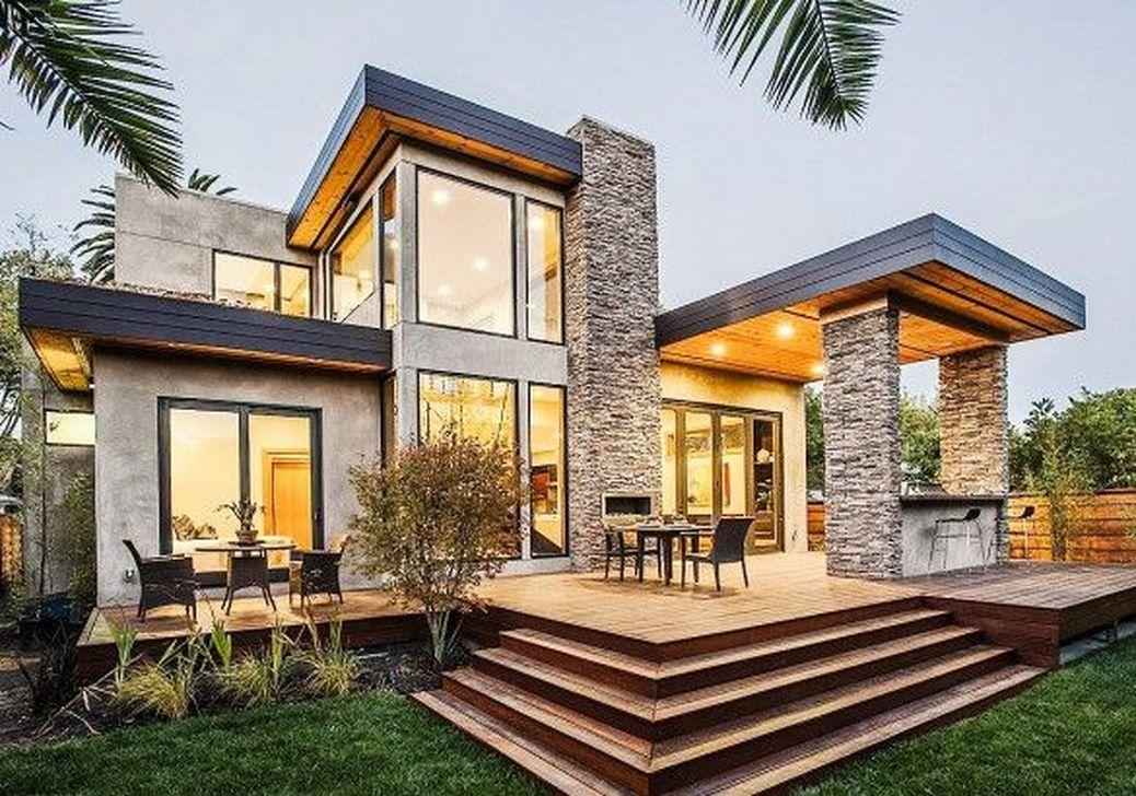 Lovely Modern Home Exterior Design Ideas 15