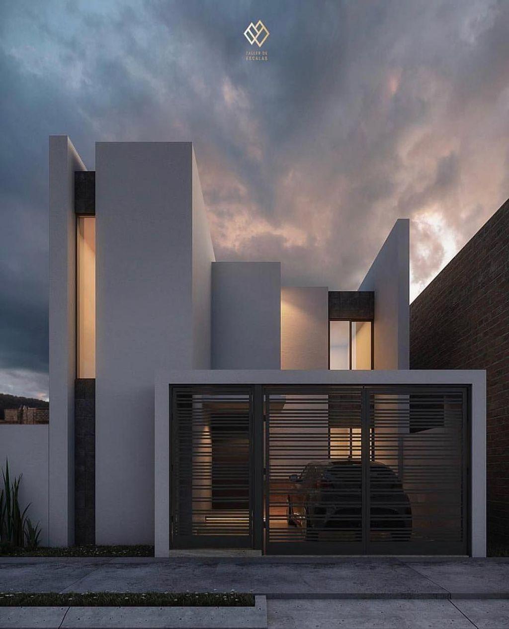 Lovely Modern Home Exterior Design Ideas 25