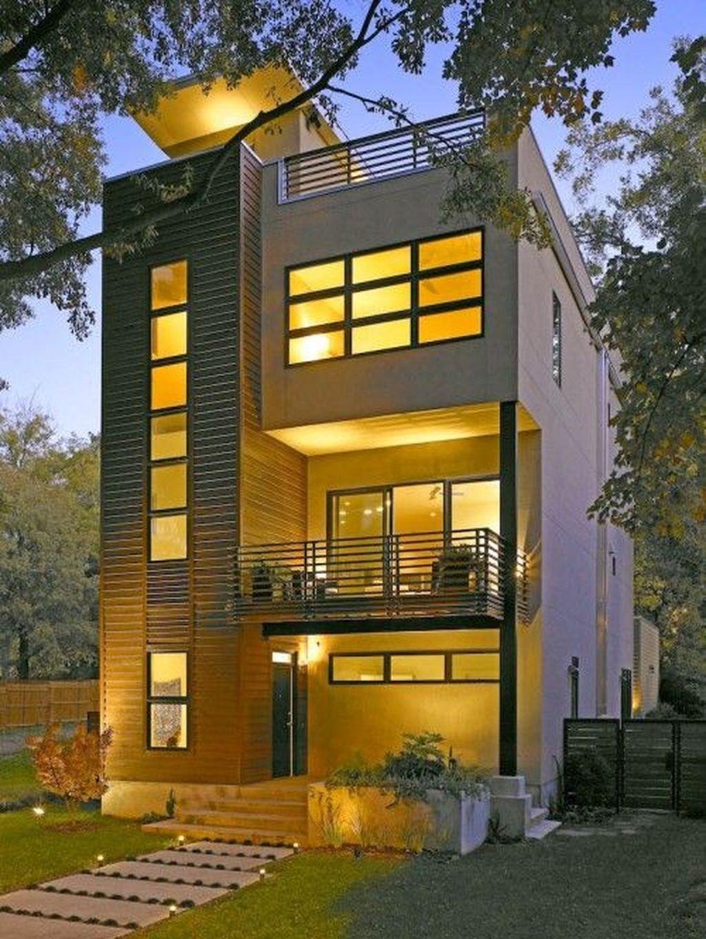 Lovely Modern Home Exterior Design Ideas 33