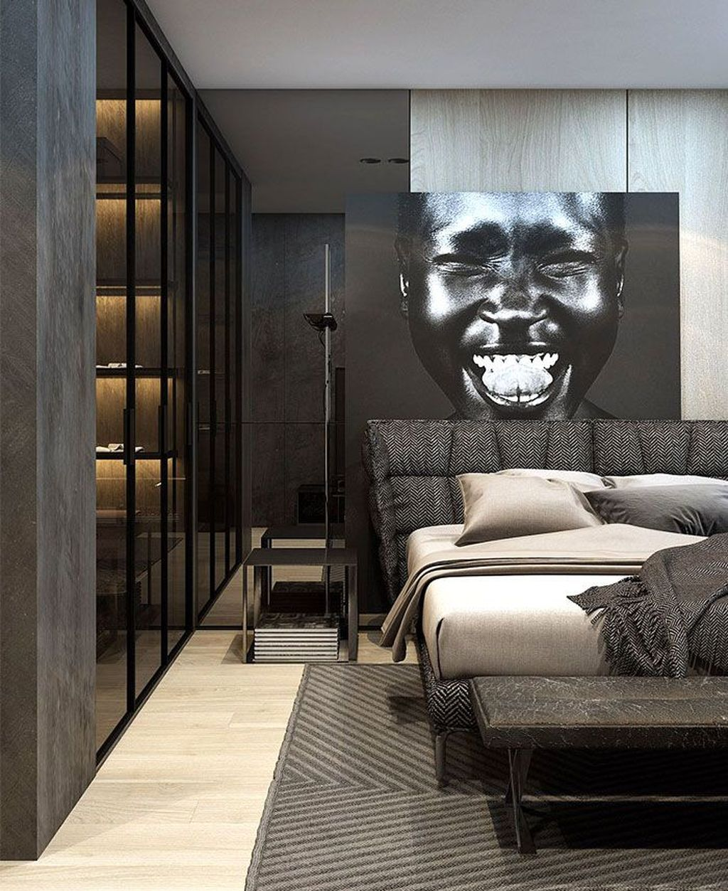 Popular Modern Man Bedroom With Elegant Look 04